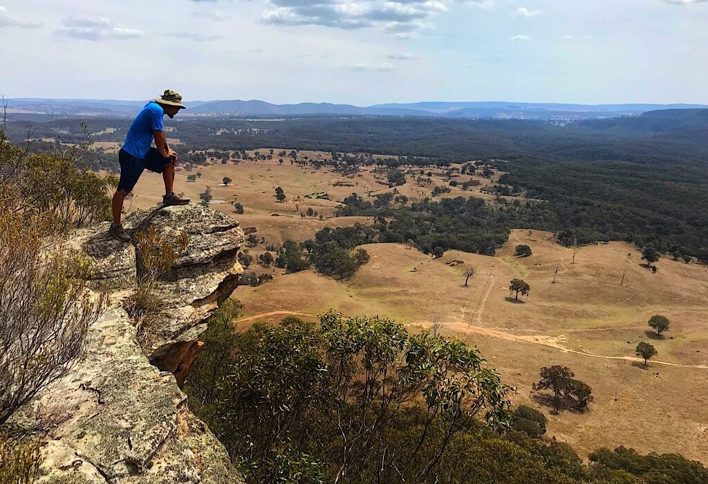 Lookout from the saddle viewpoint in the blue mountains near Lithgow, new south wales, australia
