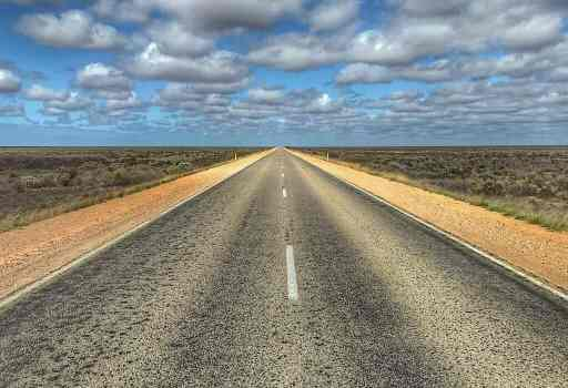 A view from the Nullarbor road going into Western Australia