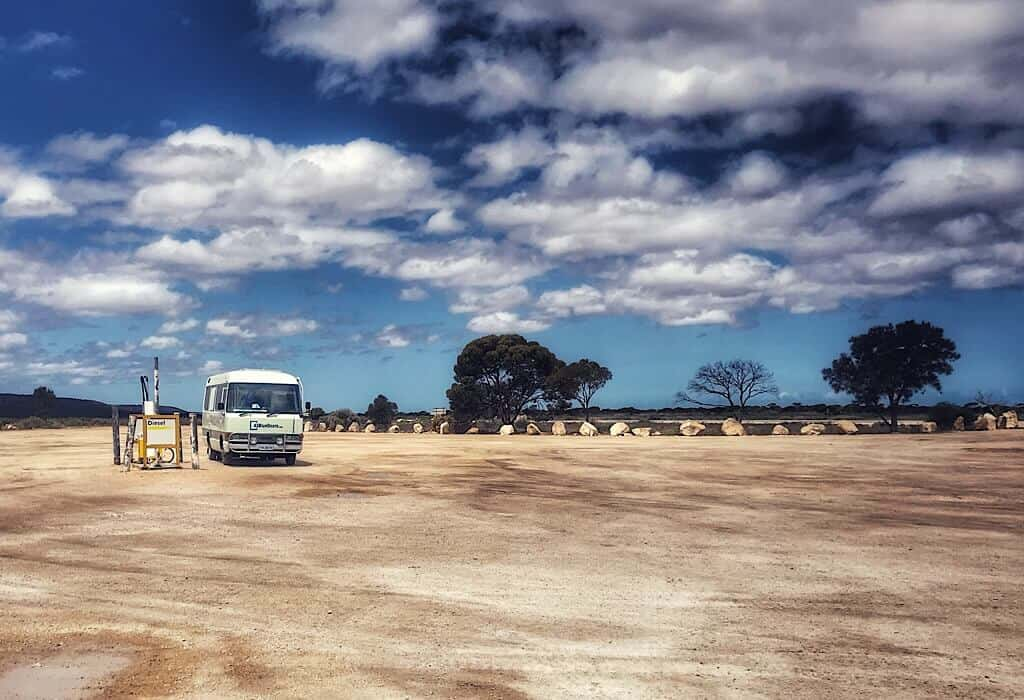 The Caiguna station on the Nullarbor