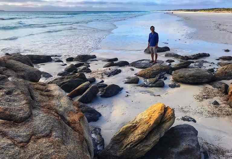La Grand beach near sunset Esperance, Western Australia