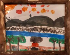 Artist April Richardson age 8, Memories by the river in Marble Bar, Western Australia