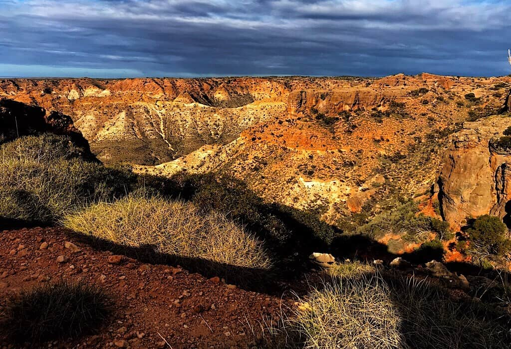 Cape Range National Park along the knife edge ridge.