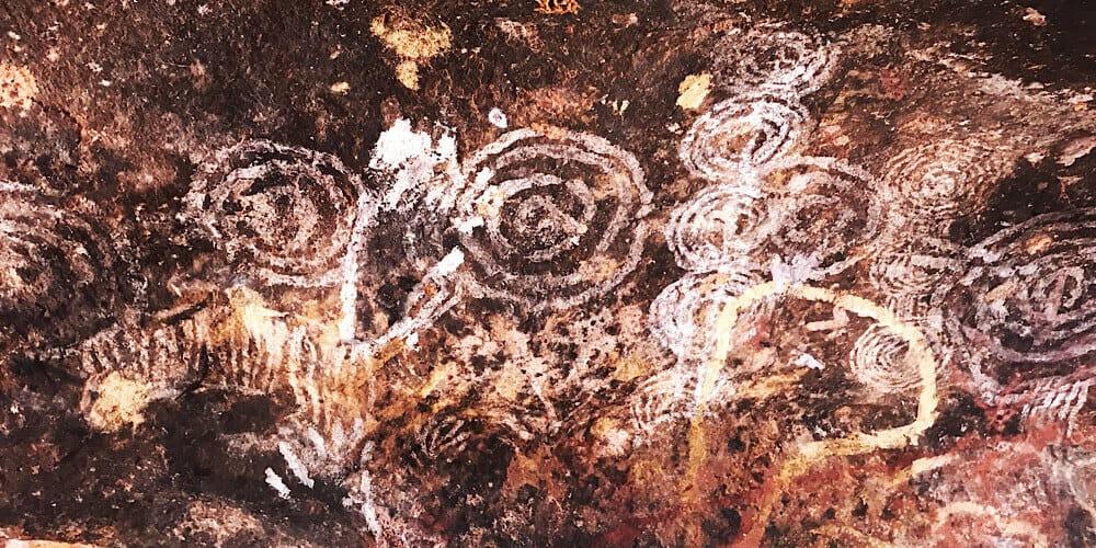 Anangu Rock Art in a cave of Uluru