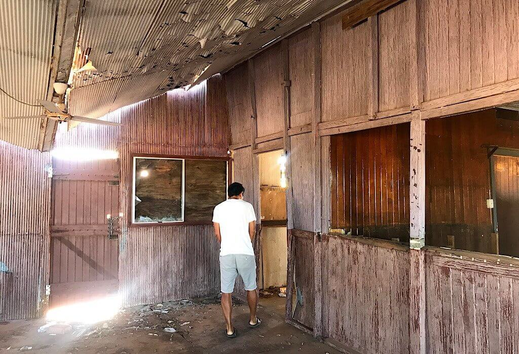 Trin inside of the Quamby Pub