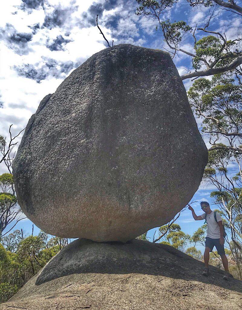 Massive granite marble