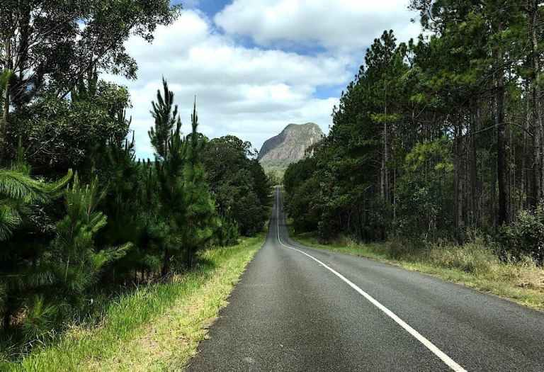 Road in the Glasshouse Mountains