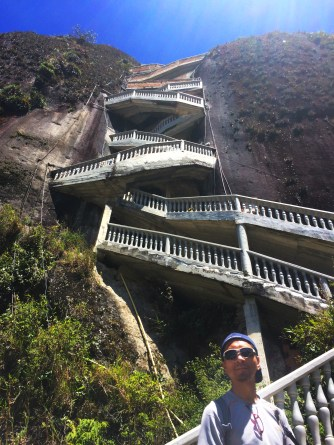 First set of stairs going up La Piedra