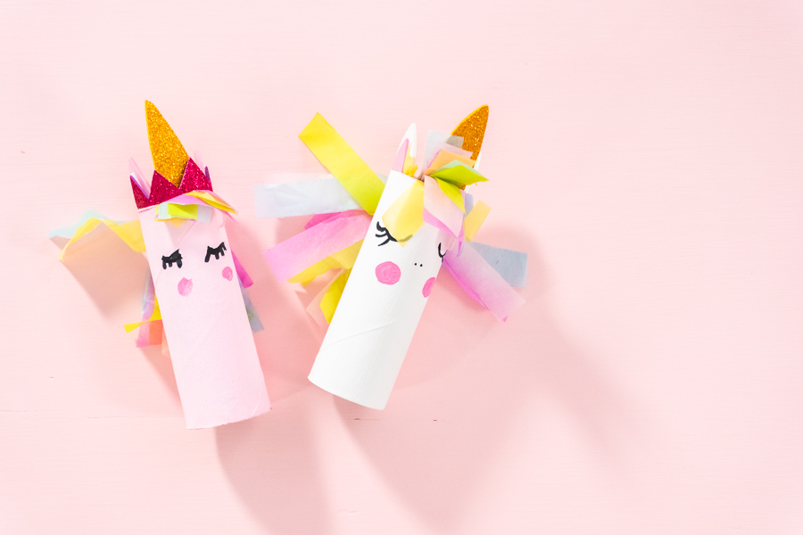 DIY Unicorn Toilet Paper Roll Craft