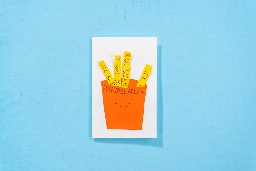 DIY Father's Day French Fries Card