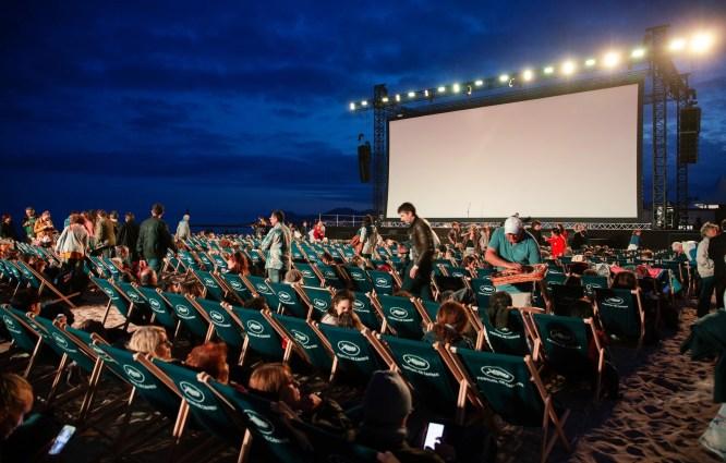 Cinema outdoor, summertime