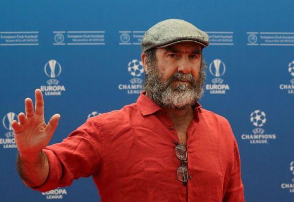 Cantona dejó atónitos a todos con su discurso en el sorteo de la Champions