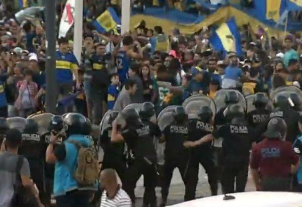 Día del hincha de Boca Juniors: incidentes en el Obelisco