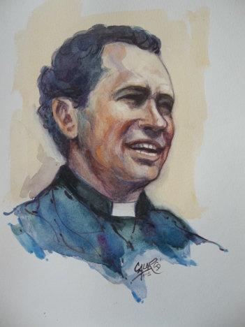Retrato en acuarela elaborado por Calarcá.