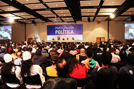 Encuentro de partidos políticos en el Foro de Participación en el año 2013