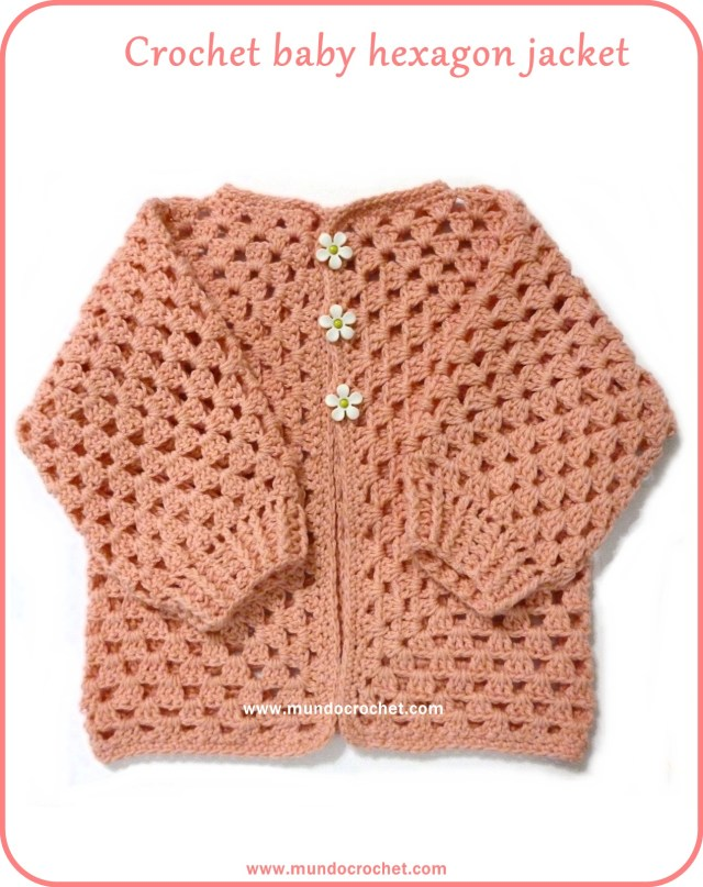 Crochet hexagon jacket / Crochet hexagon sweater