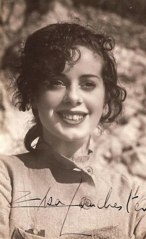 Elsa Lanchester on the set of Bride of Frankenstein (1935)