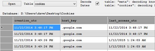 Chrome SQLite database analysis | EasyMetaData