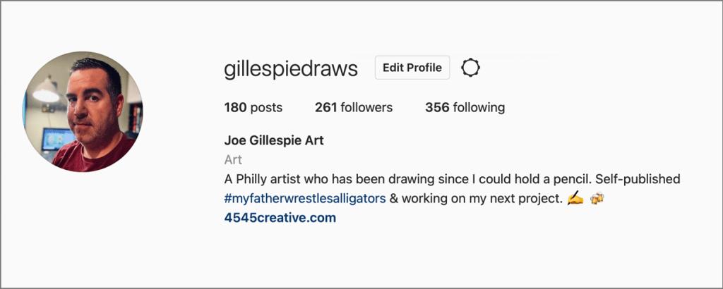 Follow Gillespie Draws on Instagram