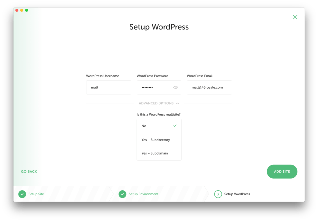 Setup WordPress - Multisite
