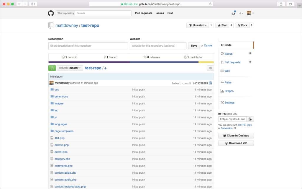 Push files to GitHub