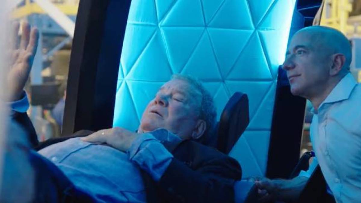 Star Trek Captain William Shatner exploded in space aboard the Blue Origin capsule