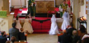 altar rails being used copy
