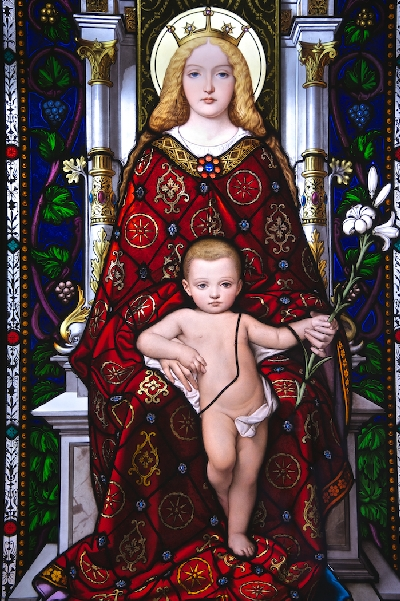 07_Stained Glass Virgin and Baby_Graham Heys_(-)
