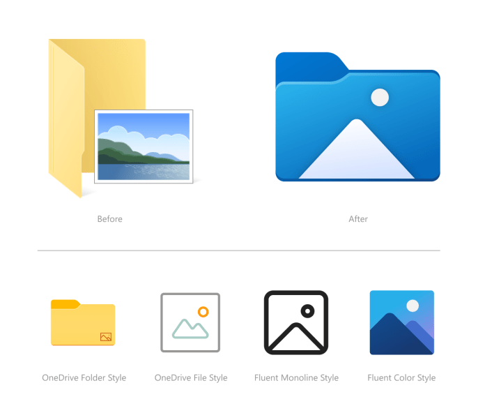 New Photos icons in File Explorer