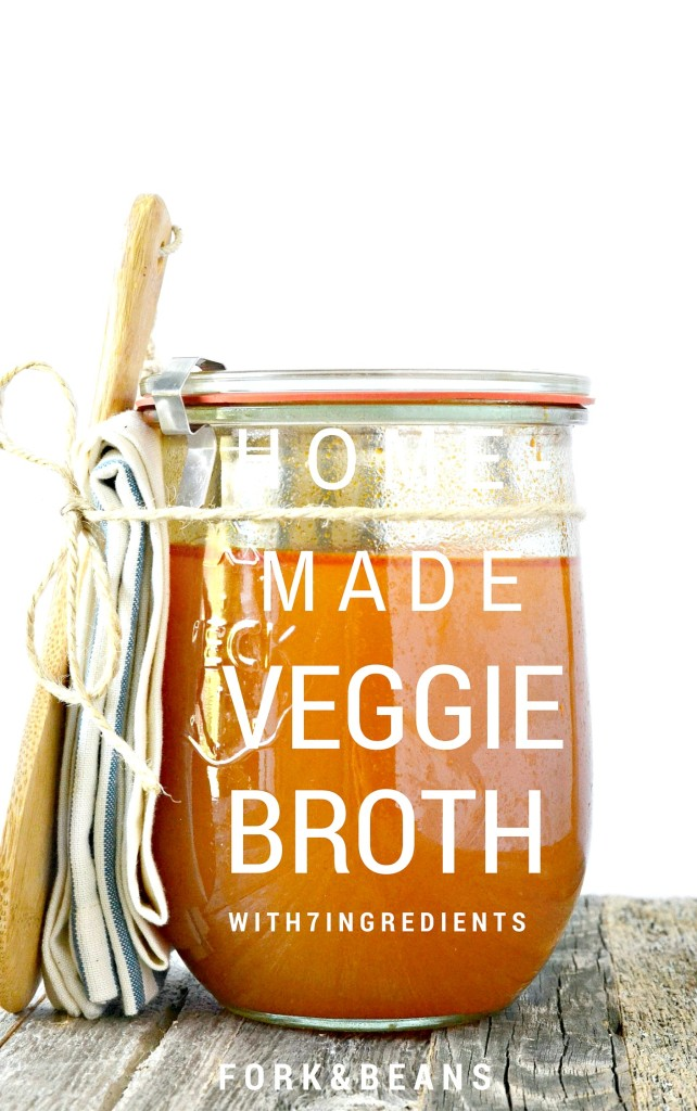 Easy to make vegetable broth with only 7 simple ingredients!