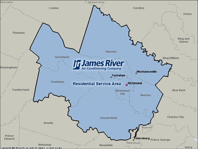 Wikipedia map photo map satellite Service Areas James River Air Conditioning Company