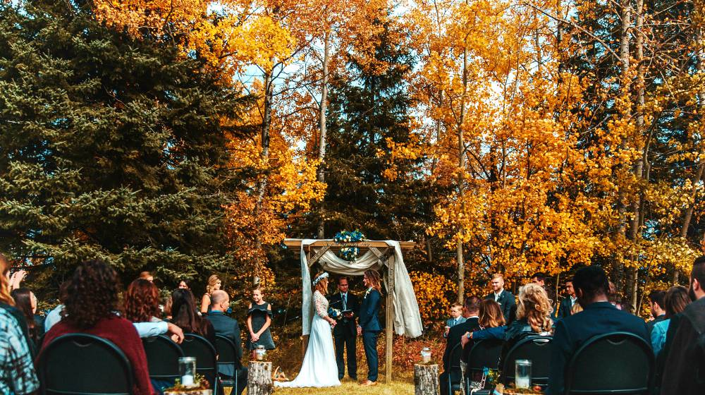 Fall Wedding Ideas For A Backyard Barnhouse Country Wedding