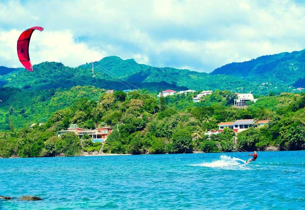 Kitesurfing at 473 Grenada Boutique Resort
