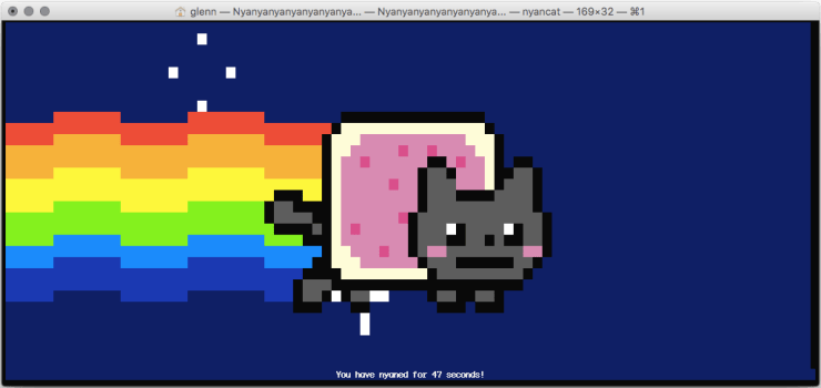 Nyancat is nyanning for a WordPress child theme