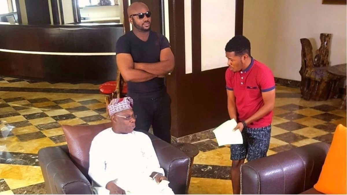 Watch Former President Olusegun Obasonjo Stars in Comedy Skit