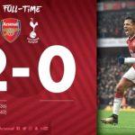VIDEO: Arsenal 2 – 0 Tottenham Hotspur [Premier League] Highlights 2017/18