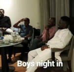 "Banky W and His Groomsmen On ""Boys Night in"" Before Traditional Wedding"