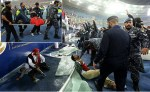 Over 40 Football Supporters Injured After Stadium's Glass Barrier Breaks As Fans Celebrates Victory [Photos]