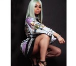 Blac Chyna flashes her curves in Versace shirt dress (Photos)
