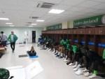 Photos: Super Eagles Locker Room in Russia Customized in Pidgin English