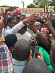 Super Eagles Star, Ahmed Musa Mobbed By Fans As He Visits Abuja Mosque For Prayers [Photos]