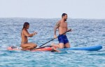 Lionel Messi Goes Paddle Boarding in Ibiza With Wife Antonella Roccuzzo And Cesc Fabregas' Partner Daniella Semaan [Photos]