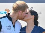 Prince Harry and Meghan Markle Kisses At The Sentebale Polo Match