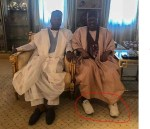 Photo: Ibrahim Babangida Rocked A 'Canvas' On His 'Agbada' During Meeting With Bukola Saraki