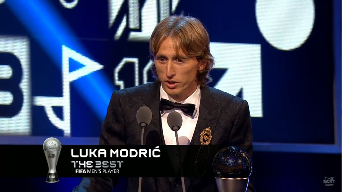 Luka Modric Wins FIFA Best Male Player Award 2018 [Full List of Winners]