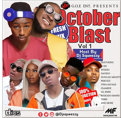 MIXTAPE: DJ Squeezzy - October Blast Mixtape