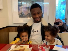 Adorable photos of Mikel Obi and his twin daughters