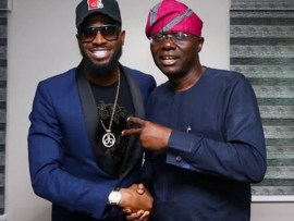 Photos:??Dbanj and US R&B star, Ari Lennox visit Babjide Sanwo-Olu