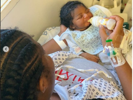Super Eagles defender, Kenneth Omeruo and his wife Chioma welcome their first child, a baby girl ?(Photos)