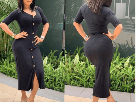 Toke Makinwa flaunts her curves in new stunning photos?