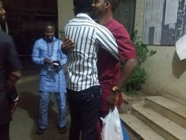 Deji Adeyanju released from prison. Re-arrested and to be charged for Terrorism on social media (photos)